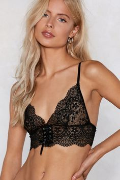 Be clear about what you want. The Be Transparent Bralette comes in lace and features a triangle, halter silhouette and tie closures at back. The matching thong features a tanga silhouette and cheeky bottom coverage. Hot Lingerie, Women Lingerie, Lingerie Sets, Christmas Lingerie, Lingerie Shoot, Bridal Lingerie, Boxer, Corset, Strappy Lace Bralette