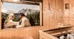 panoramic sauna | in the middle of the dolomites Spa Quotes, Spa Rooms, Spa Design, Wellness Spa, Diy Spa, Yoga Retreat, Relax, Around The Worlds, Middle