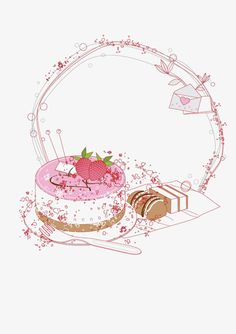 vector cake border, Fashion, Line, Cake PNG and Vector Baking Logo Design, Cake Logo Design, Custom Logo Design, Pastry Logo, Bolo Png, Cupcake Logo, Cake Borders, Birthday Clipart, Floral Logo