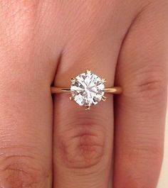 2.00 CT ROUND CUT VS1 DIAMOND SOLITAIRE ENGAGEMENT RING 18K YELLOW GOLD in Jewelry & Watches, Engagement & Wedding, Engagement Rings | eBay