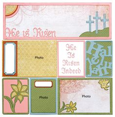 He Is Risen Pocket Page Easter Scrapbook Layout