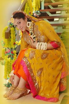 Pakistani Bride - Mehndi Ceremony