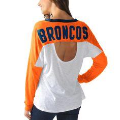 Women's Denver Broncos Orange Ralph Long Sleeve T-Shirt