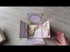 """Tekturki od Joasi z """"Fabryki Weny"""", papierowe box-y od Bogusi i kilka moich prac :), scrapbooking - YouTube"""
