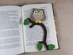 Hiboux Marque Page au crochet chouette marque-pages décoration fantaisie enfant crocheté fait-main : Marque-pages par artken6l