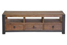 Roberts 3-Drawer Coffee Table, Pecan