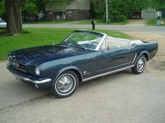 1965 Ford Mustang Convertibe - Caspian Blue, White Pony Interior :)