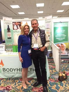 """BodyHealth founder Dr. David Minkoff with Dr. Leigh Erin Connealy, founder and medical director of the Center For New Medicine in Irvine, California, and author of the upcoming book, """"The Cancer Revolution: A Groundbreaking Program to Reverse and Prevent Cancer,"""" at the 14th Annual International Integrative Oncology Conference in San Diego!"""