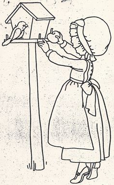 Girl Giving Apple to Bird by jeninemd, via Flickr