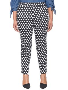 Printed Kady Fit Pant | Women's Plus Size Pants + Jeans + Shorts | ELOQUII