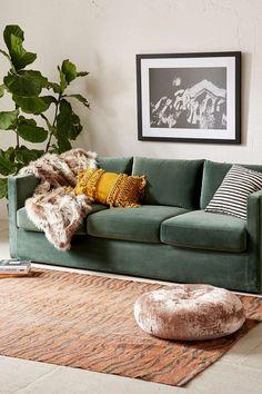 Melanie Velvet Sofa - Urban Outfitters