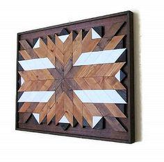 Recuperada madera pared arte suroeste arte rústico de la