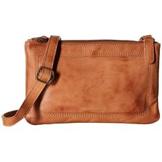 Lucky Brand Callie Crossbody (Tobacco) Cross Body Handbags ($118) ❤ liked on Polyvore featuring bags, handbags, shoulder bags, leather shoulder bag, leather crossbody purses, brown crossbody purse, leather handbags and leather man bags
