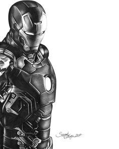 Ironman A /2 ceruza rajz, üdv Ben a 6 rajzolója :)