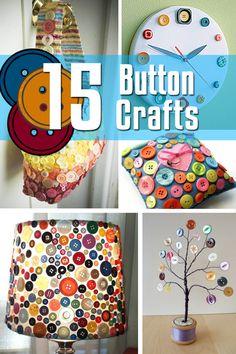 15 Button Crafts | Craftspo
