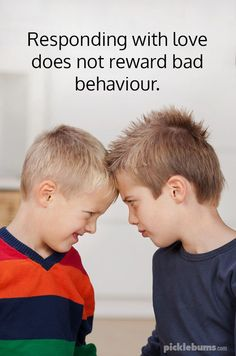 Responding with love does not reward bad behaviour. Responding with love does not reward bad behaviour. Parenting Issues, Positive Parenting Solutions, Parenting Articles, Parenting Books, Parenting 101, Peaceful Parenting, Gentle Parenting, Parenting Toddlers, Christian Parenting