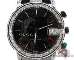 TraxNYC gives its customers the lowest prices on Gucci of all sorts.This classically crafted item features 4.70 ct of Round cut diamonds.  The name TraxNYC has become synonymous with Hip Hop Jewelry because of the top of the line products and excellent value we provide for you. This Gucci costs just $3850 so buy now and you can be sure you are getting a great piece for the right price.
