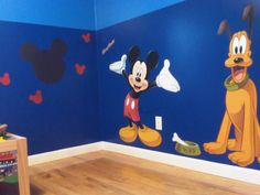 Would be perfect for my boys playroom! Already have that paint color.