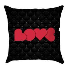 Capa De Almofada Love Black 40x40 Haus For Fun