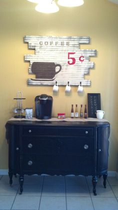 My very own coffee bar!