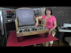 How To Upholster An English Arm Club Chair - YouTube