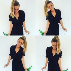 """Natalie Gee on Instagram: """"Pop your Pellegrino, it's Friday . #mykindof #champagnewishes to you! #water #getitin #makeitbubbly #putitinawineglass and then wear some #ponytails #christiebrinkleyhair2wear #getone #youwillloveit #havethebestday #geebeauty #geebeauty10 #willbe """""""