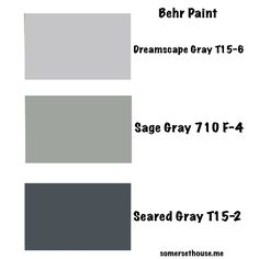 Three Behr paint colors in gray.  A great neutral for 2015. It's on my blog somersethouse.me