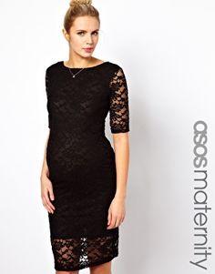ASOS Maternity Midi Dress In Lace