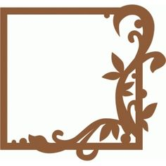 Silhouette Design Store - View Design #72467: flourish frame (square)