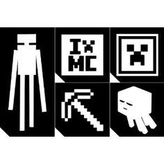 20pc. Glitter Tattoo Stencil Pack - Minecraft