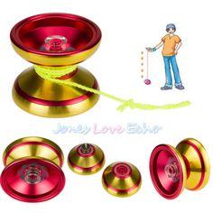 Aluminum Design Professional YoYo Ball Bearing String Trick Alloy Golden+Red US - http://hobbies-toys.goshoppins.com/classic-toys/aluminum-design-professional-yoyo-ball-bearing-string-trick-alloy-goldenred-us/