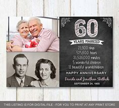 60th Wedding Anniversary Gifts For Parents 2