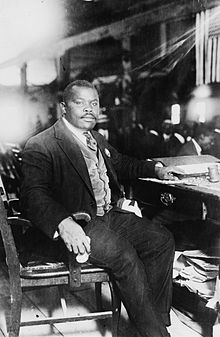 Marcus Garvey (Jamaica 1887 - London 1940) founder of the UNIA (Universal Negro Improvement Association). His ideas have been influential in America, the Caribbean and Africa.