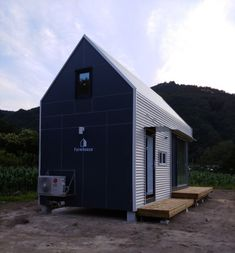 Farmhouse C-type/ 팜하우스(C-type) - 디앤에이파트너스 : 네이버 블로그 Micro House, Tiny House, Compact Living, Black House, Prefab, Studio Apartment, Home Projects, Shed, Farmhouse