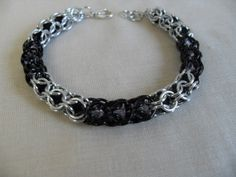 Black and Silver Caged Bead Chainmaille by JulasChainmaille, £19.50