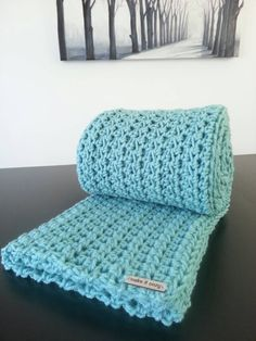 Modern crochet blanket from Make It Cozy.