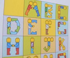 Alphabet Lego Poster, Wall Art for Children's Rooms, Lego room decor on Etsy, $15.00