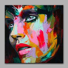 Oil+Painting+Modern+Abstract+Pure+Hand+Draw+Ready+To+Hang+Decorative+The+Face+–+USD+$+59.19
