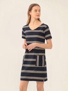 Nice Things Breton Dress   Maze Clothing
