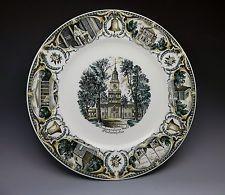 Independence Hall Philadelphia Pennsylvania Souvenir Plate Porcelain