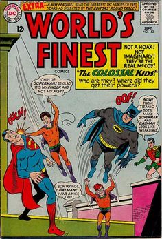 Worlds Finest 152 book, Superman, Batman. 1965 DC Comics, FVF or VF+ The Effective Pictures We Offer You About Comic Book storage A quality picture can tell you many things. You can find the mos Superman Family, Batman And Superman, Best Comic Books, Comic Books Art, Book Art, Comic Book Storage, Children's Comics, Flash Comics, Comics