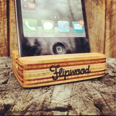 Made by hand from 100% recycled skateboards, this stand holds your smartphone at a comfortable viewing angle in either portrait or landscape mode.  Each stand is cut to order and measures roughly 2 x 2.5 inches, features a limited color scheme and hand stamped logo. All products are finished with organic linseed oil.  Color: All natural
