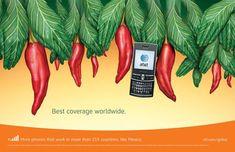 Publicité mondiale de téléphones