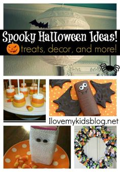 PIN this awesome DIY Free Tutorials where I put together  Spooky Halloween Ideas - Crafts, Treats, Decor and more!