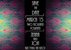 Indian Bohemian-Style Art-Deco Save the Date Card - Printable or Printed #sweetsassydesigns #etsy