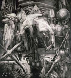 [Oldies] Surreal Art by Alien Creator H. Arte Alien, Arte Sci Fi, Alien Art, Sci Fi Art, Arte Horror, Horror Art, Alien Film, Hr Giger Art, Giger Alien