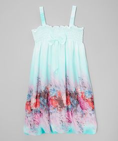 Look at this Baby Blue Floral Babydoll Dress - Infant, Toddler & Girls on #zulily today!