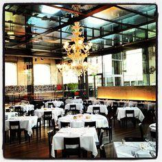 Restaurant LaSalle in Zürich Kreis 5 Zurich, Cafe Restaurant, Atrium, Switzerland, Table Decorations, Luxury, Lighthouse, Restaurants, Hotels