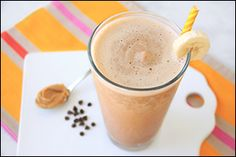 Smoothie time! Try this healthy peanut butter, chocolate & banana version -- packed with protein!