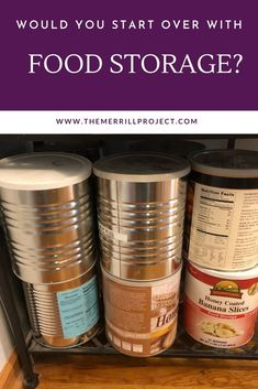 Should you start over with food storage? Tips for those of you who are looking to start with long term food storage. How to start a food storage from mistakes from the experts. Emergency Food Supply, Emergency Preparedness, Survival, Long Term Food Storage, Freeze Drying Food, Starting Over, Banana Slice, Mistakes, A Food